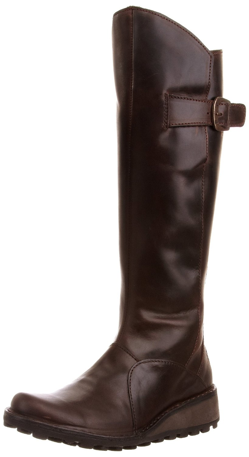 fly womens mol brown new leather boots