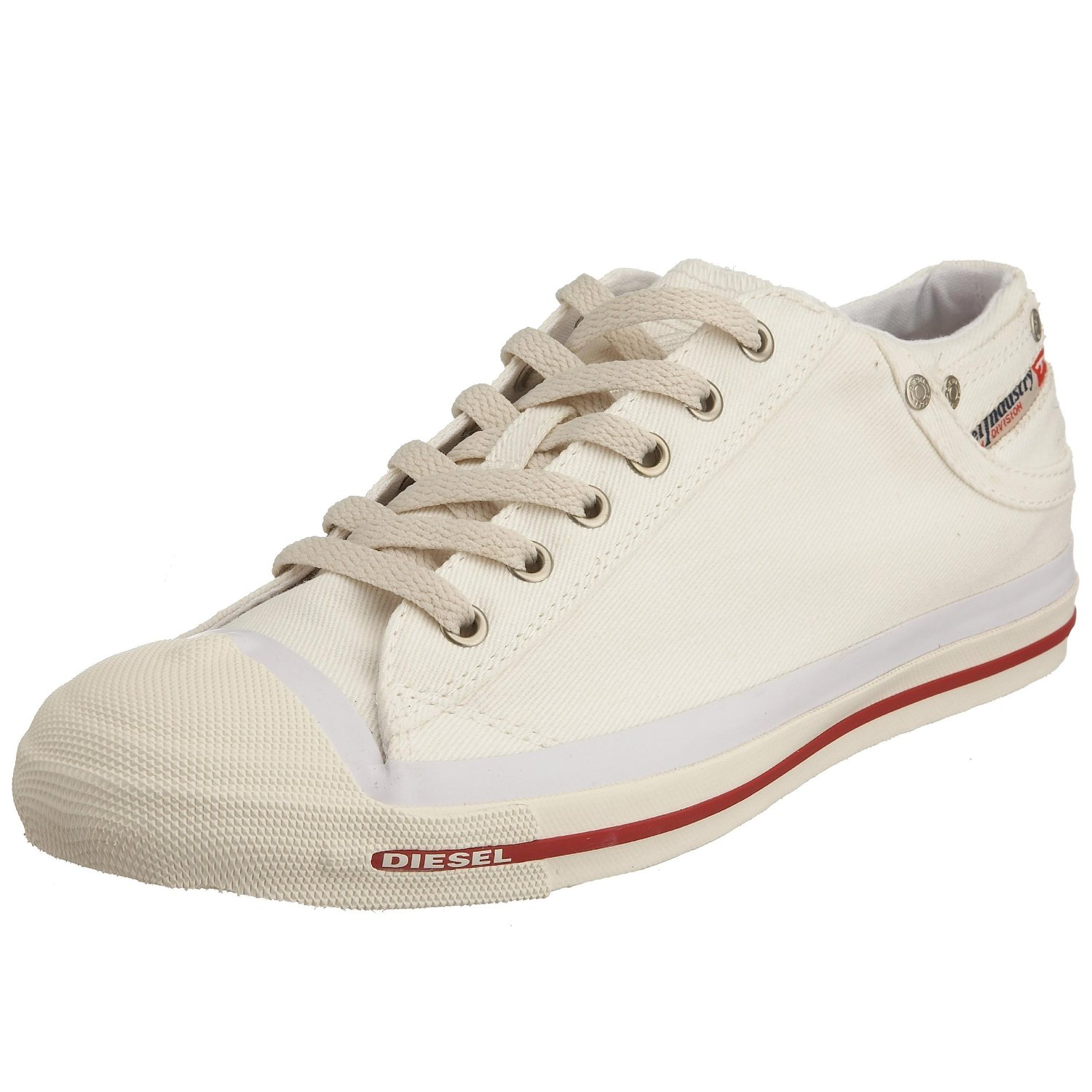 diesel exposure low white mens canvas new trainers