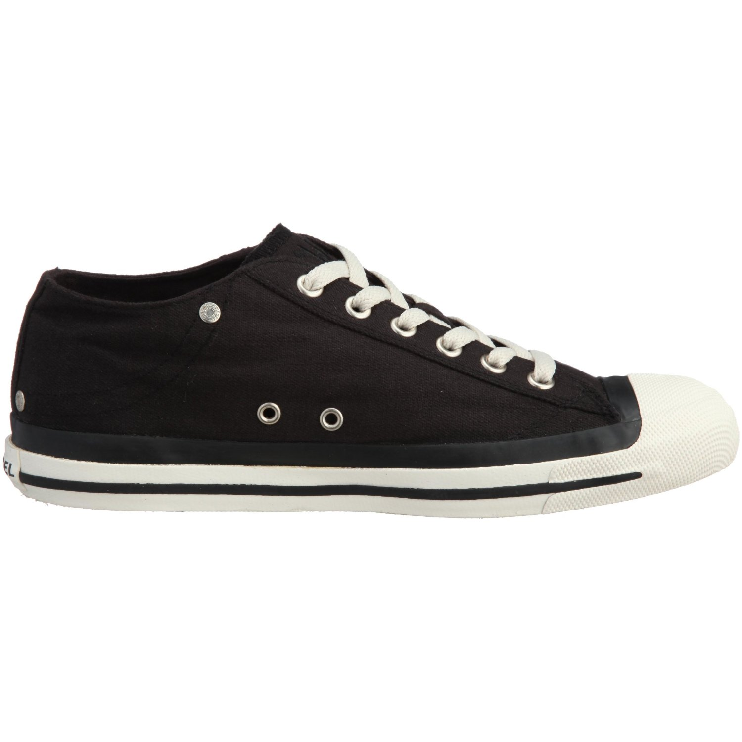 diesel exposure low black white womens canvas new trainers
