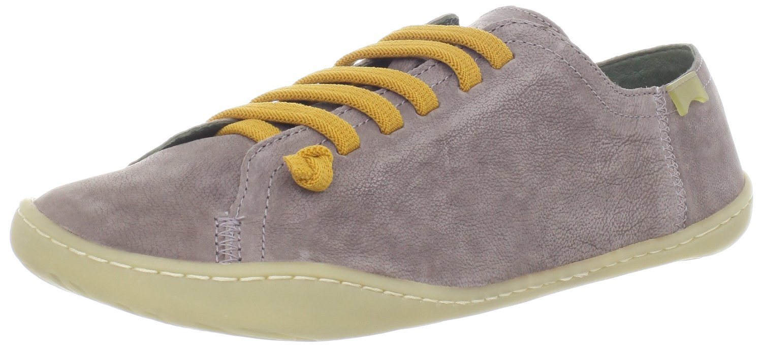Cami-20848-Womens-Light-Grey-Yellow-Leather-Lo-Trainers-Shoes-Boots