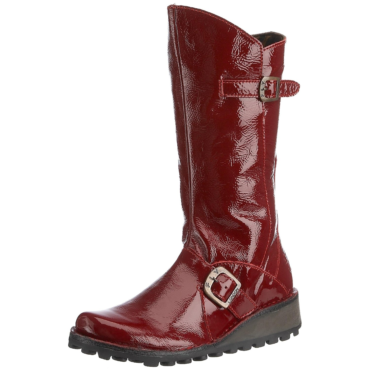 fly mes patent leather new womens hi boots