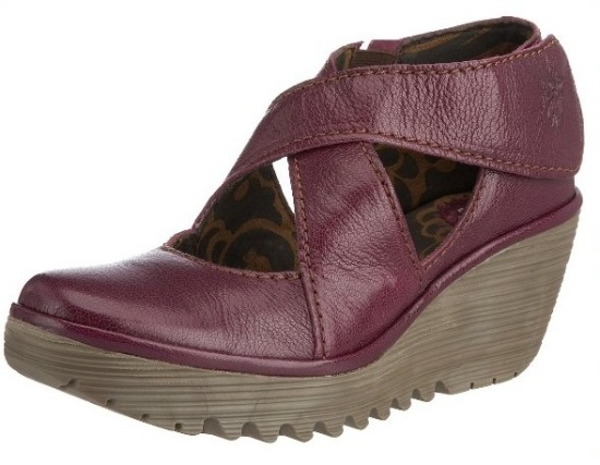 Fly-london-Yogo-Purple-Leather-Womens-New-Cross-Bar-Wedge-Shoes-Boots