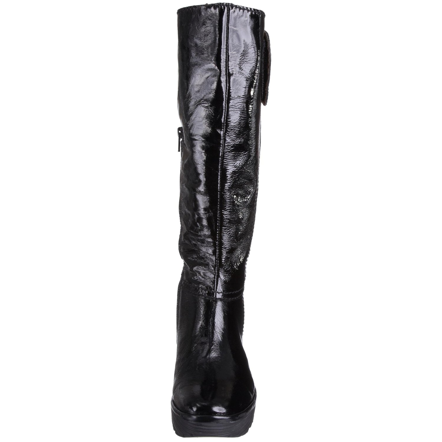 fly womens yule black patent cheap new leather