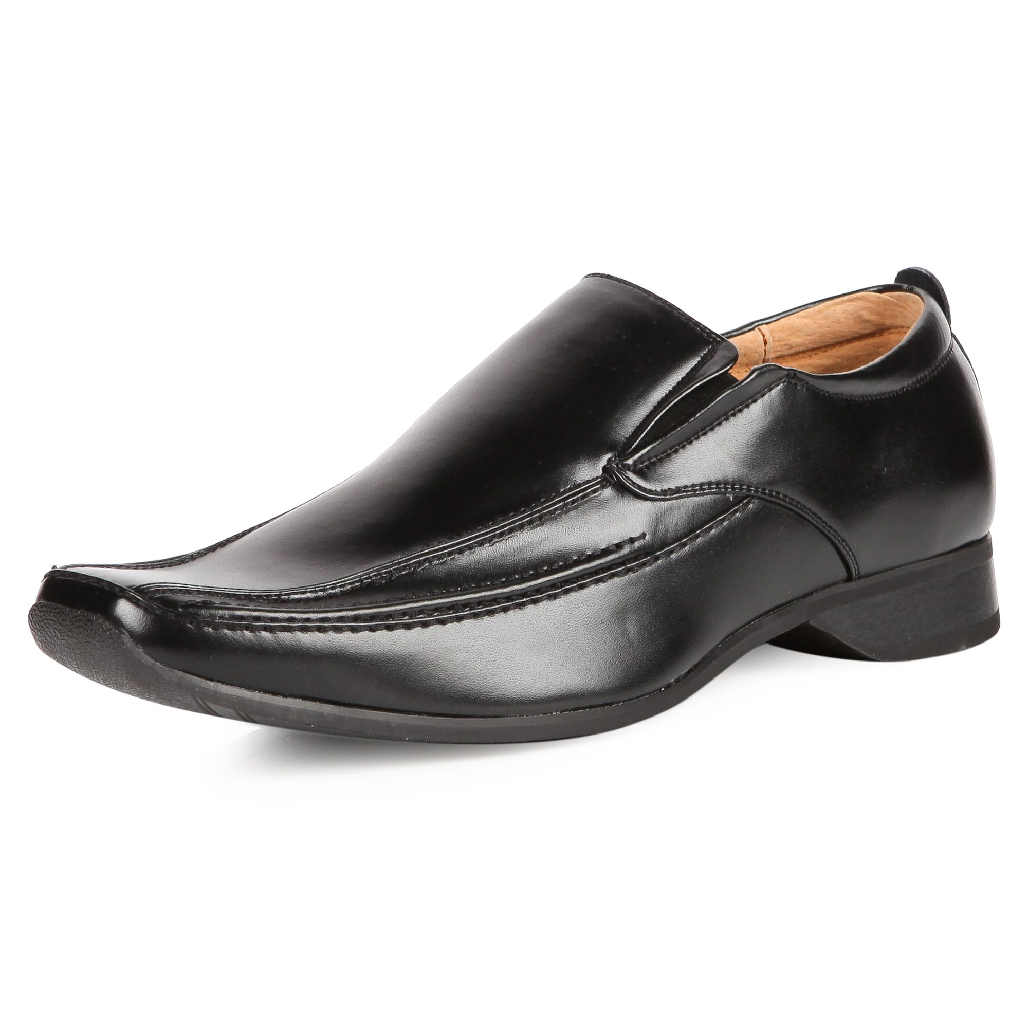 Goor Mens M334 Black Slip On New Mens Formal Leather Cheap ...