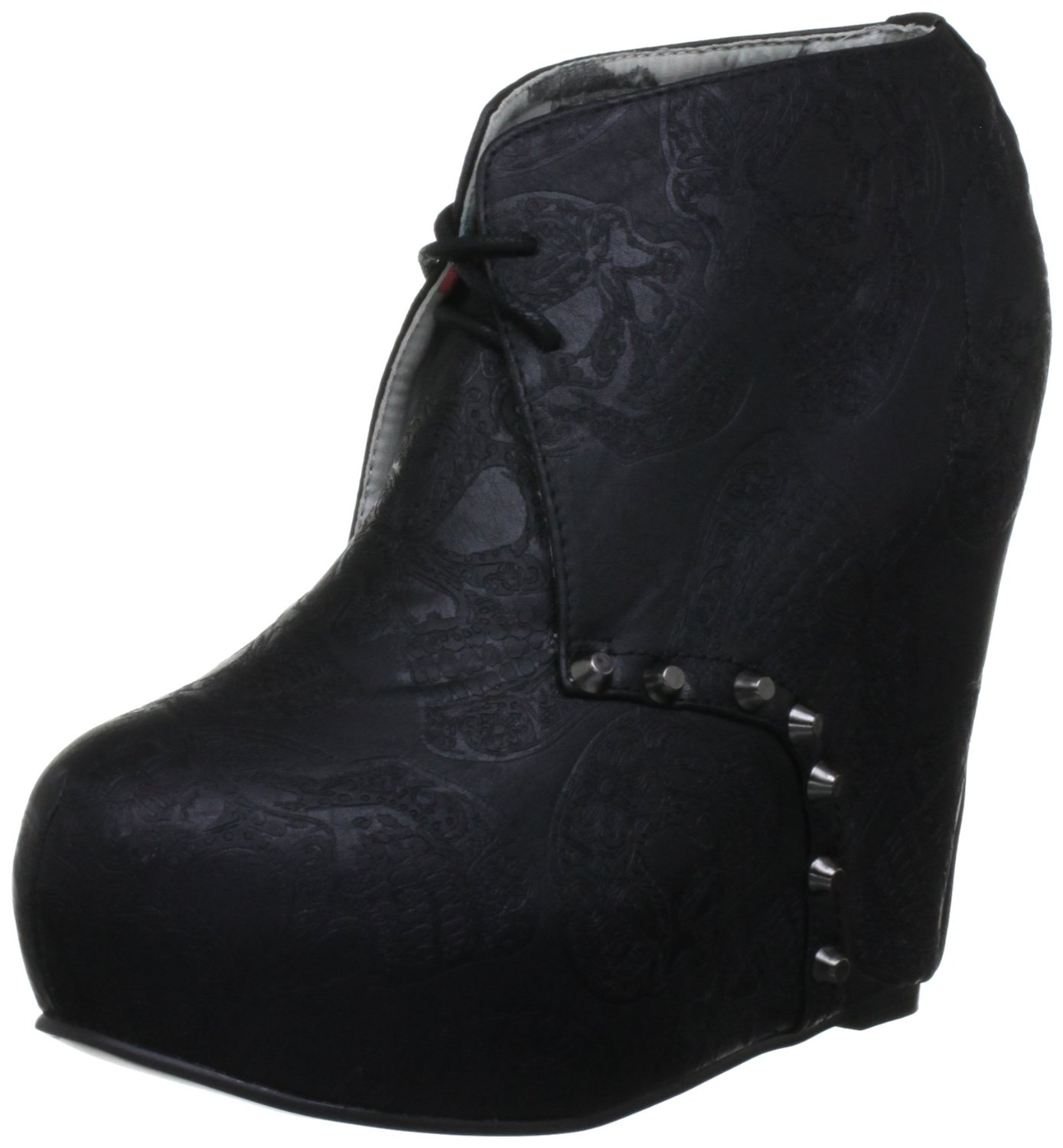 iron maneater black new womnes wedge bootie wedges