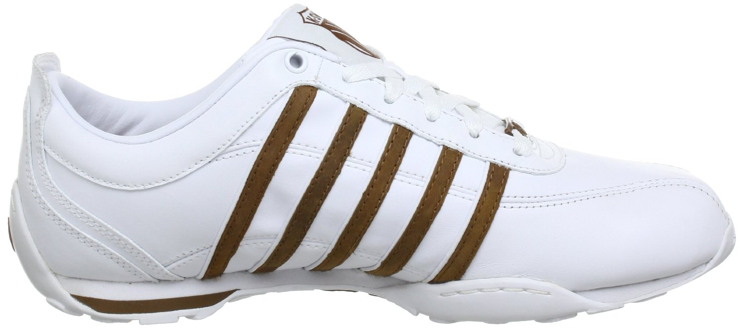 k swiss arvee 1 5 white brown new mens leather shoes. Black Bedroom Furniture Sets. Home Design Ideas