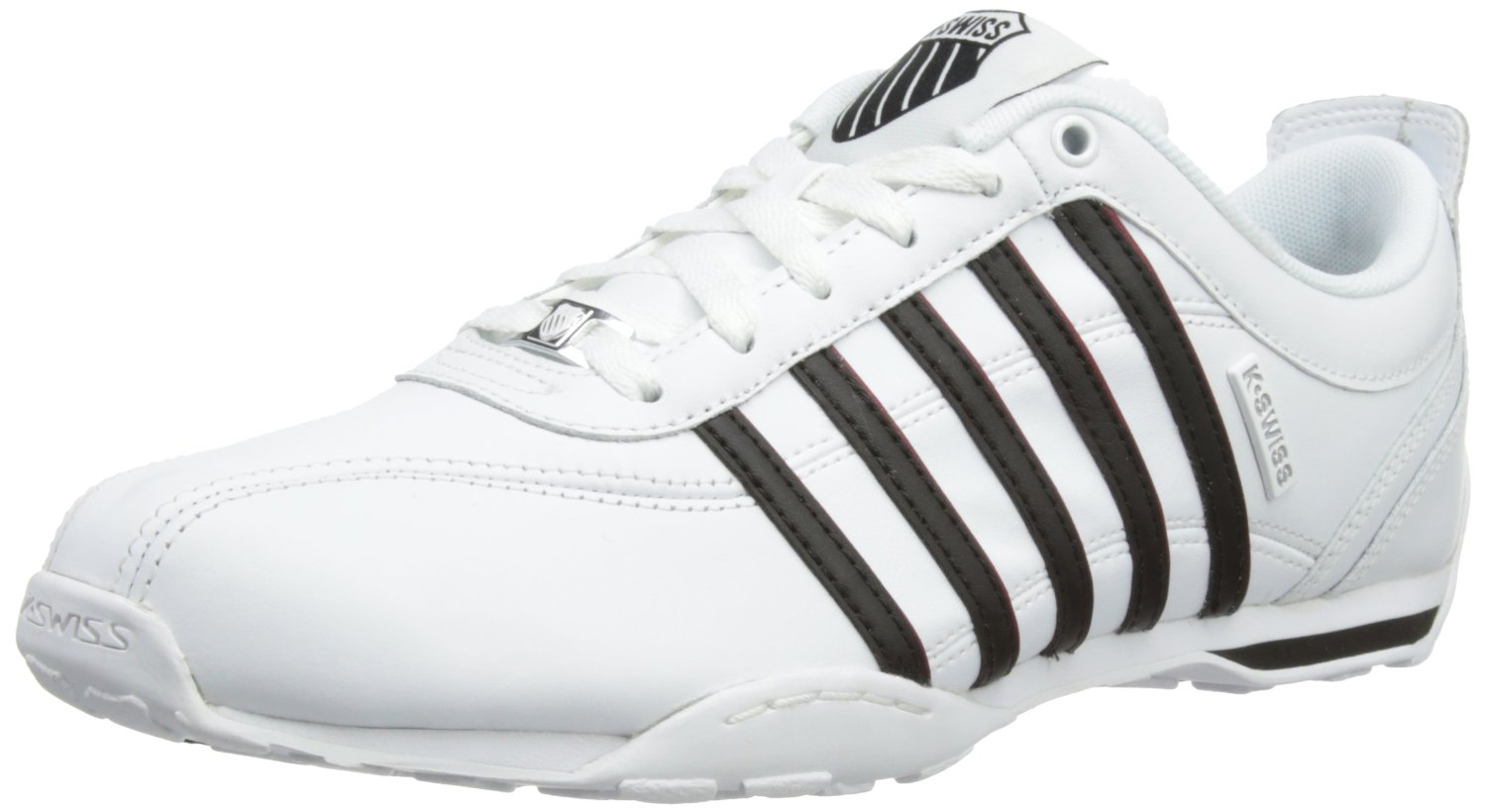 k swiss arvee 1 5 white black red new mens leather shoes trainers boots ebay. Black Bedroom Furniture Sets. Home Design Ideas