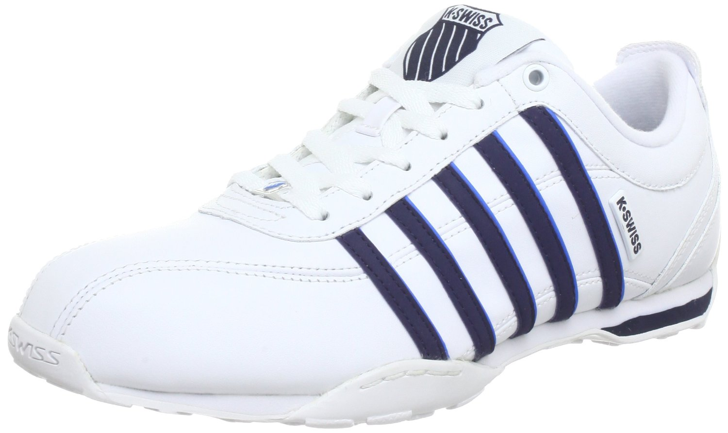 k swiss arvee 1 5 white navy blue new mens leather shoes. Black Bedroom Furniture Sets. Home Design Ideas