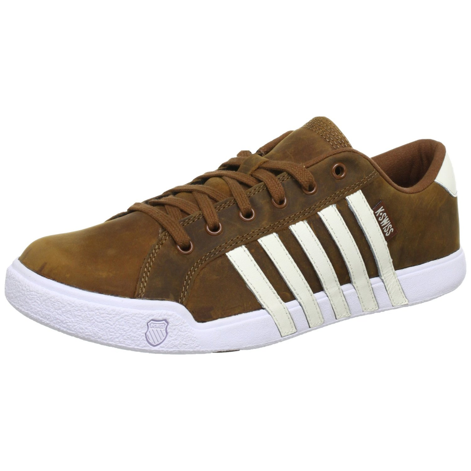 k swiss newport 2 ii brown white leather new mens trainers