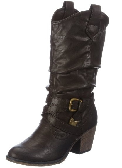 Rocket-Dog-Sidestep-Dark-Chocolate-New-Womens-Hi-Pull-On-Cowboy-Shoes-Boots