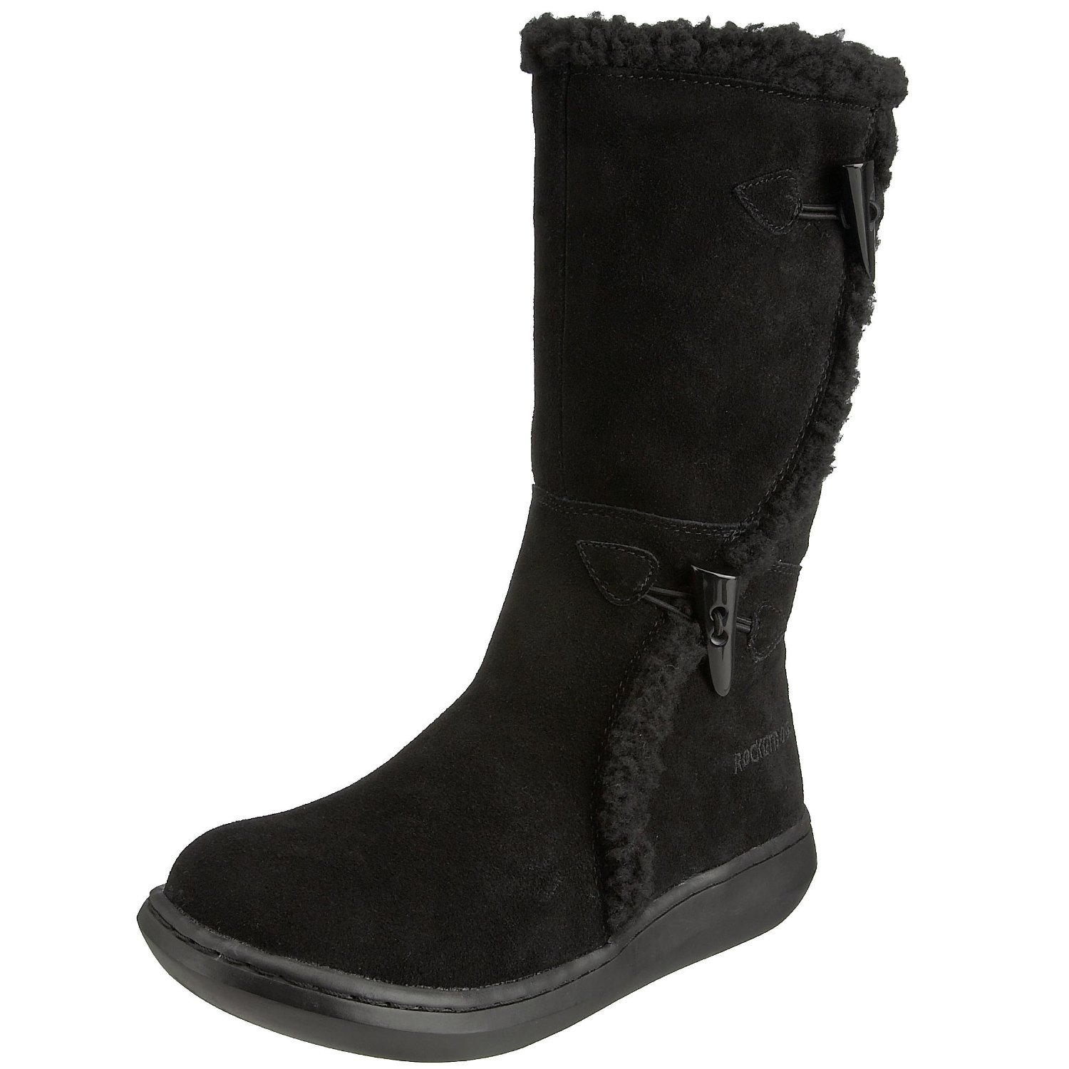 Rocket-Dog-Slope-Black-Suede-New-Womens-Hi-Winter-Shoes-Boots