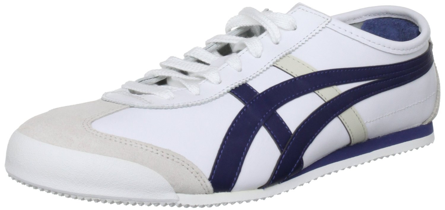 low priced c2a0c c290e Image is loading Onitsuka-Tiger-Mexico-66-White-Navy-Leather-New-