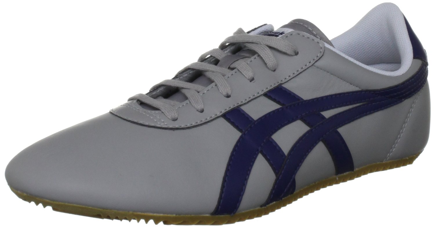 Onitsuka Tiger Tai Chi Grey Blue Leather New Mens Trainers Shoes Boots