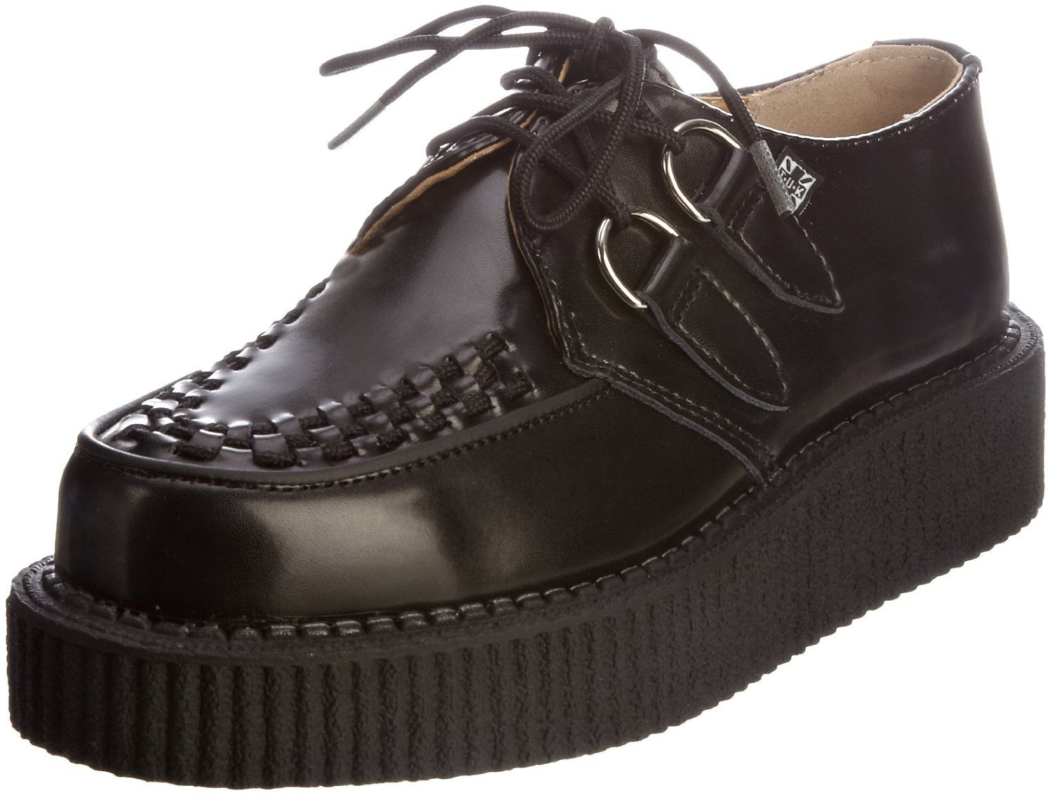 tuk a6802 mondo hi black black leather new mens creepers
