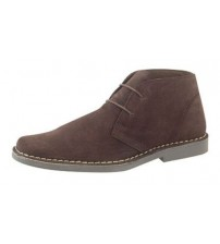 Roamers Mens Dark Brown Suede Mens Desert Boots 420