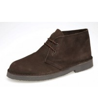 Roamers Mens Suede Dark Brown Mens Desert Boots 467