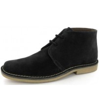Roamers Mens Suede Classic Black Desert Boots 618