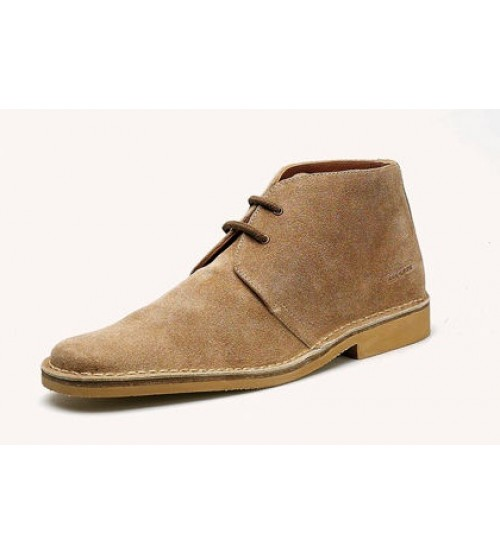 Roamers Mens Suede Classic Sand Desert Boots 618