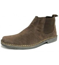 Roamers Mens Suede Dark Brown Mens Desert Boots 765