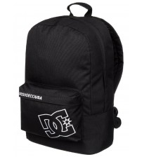 DC Bunker Solid Black White Nylon Shoulder Backpack