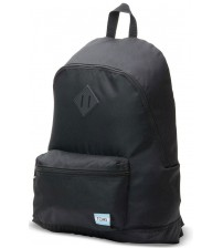 Toms Classic Black Poly Unisex School Bag Backpack