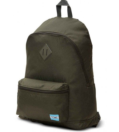 Toms Classic Olive Poly Unisex School Bag Backpack
