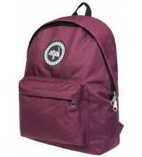 Hype Badge Burgundy Unisex Nylon Shoulder Bag Backpack