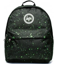 Hype Splat Black Green Unisex Nylon Shoulder Bag Backpack