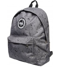 Hype Splat Grey Black Unisex Nylon Shoulder Bag Backpack