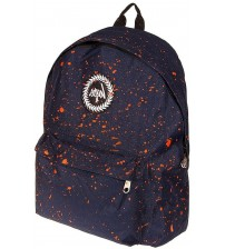 Hype Splat Navy Orange Unisex Nylon Shoulder Bag Backpack