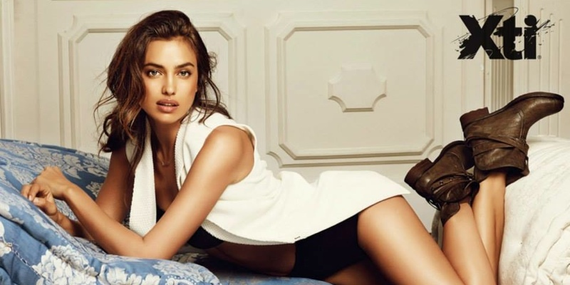 Irina Shayk unveiled as the face of Spanish footwear brand