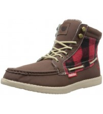 Brakeburn Ride Brown Tartan Print New Men Mid Ankle Boots Shoes