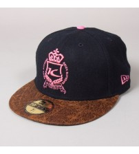 Kings Apparel London Authentic Navy Pink Brown Snapback