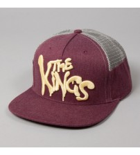 Kings Apparel London Warrior Maroon Grey Mesh Cap