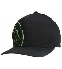 Metal Mulisha Shock Black Green Curved Flexfit Hat Cap
