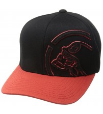 Metal Mulisha Shock Black Red Curved Flexfit Hat Cap