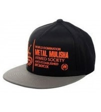 Metal Mulisha Impact Black Grey Orange Cap