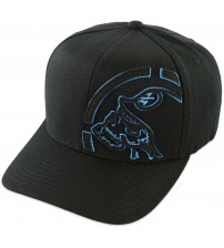 Metal Mulisha Trimmed Curved Black Blue Cap