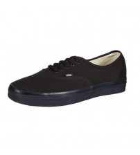 Vans Authentic Black Canvas Unisex Skate Trainers Shoes