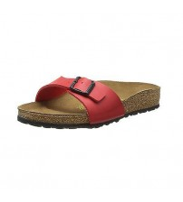 Birkenstock Madrid Cherry Womens Leather Sandals Shoes