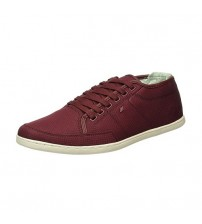 Boxfresh Sparko SH Maroon White RIP Nylon Mens Trainers Shoes
