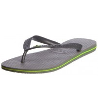 Havaianas Brasil Grey Men Summer Beach Flip Flops