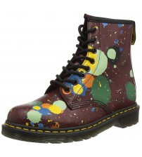 Dr Martens 1460 Cherry Red Splatter Leather 8 eyelets Womens Boots