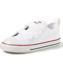 Converse All Star 2 Velcro White Infant Leather Trainers