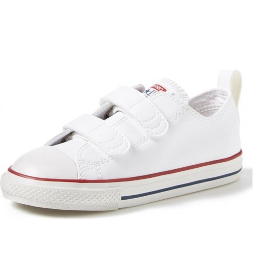 524c6326b191 Converse All Star 2 Velcro White Infant Leather Trainers