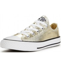 Converse Chuck Taylor All Star Gold White Lo Kids Canvas Trainers