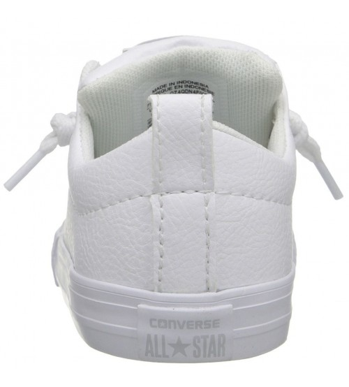 412cf6ed84 Converse Chuck Taylor All Star Street Slip White Infant Leather Trainers