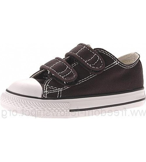 59300a7f09329c Converse Chuck Taylor All Star 2 Velcro Black White Infant Canvas Trainer