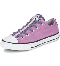 Converse All Star Loopholes Purple Multi Kids Canvas Trainers