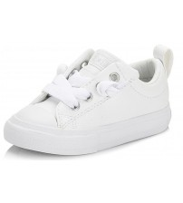Converse All Star Street Slip White Infant Leather Trainers